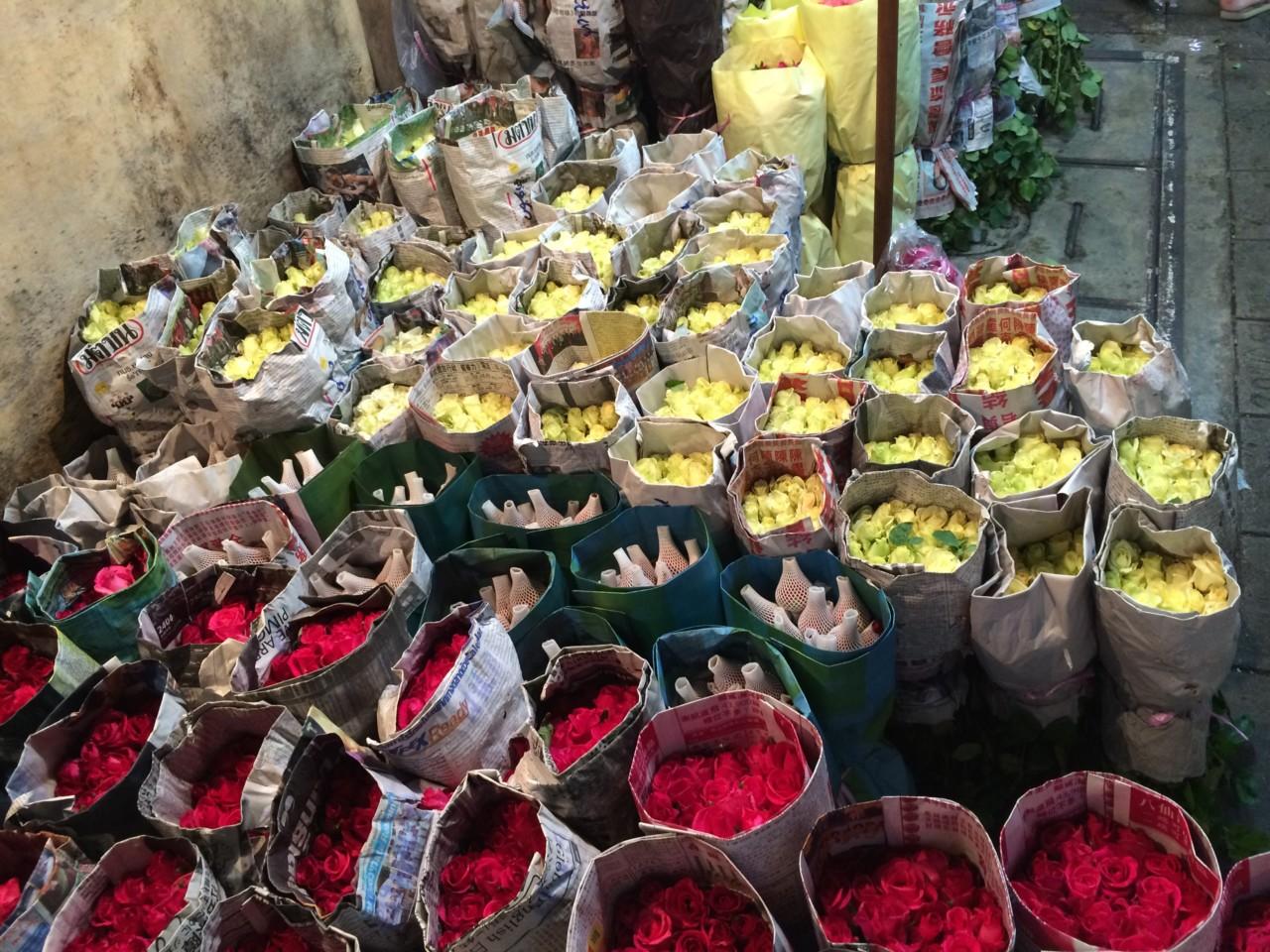 バンコクのフラワーマーケット